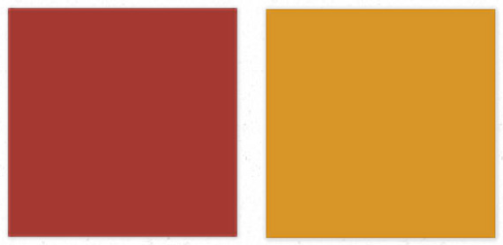 Rave Red SW6608 and Curry SW6671 Sherwin Williams