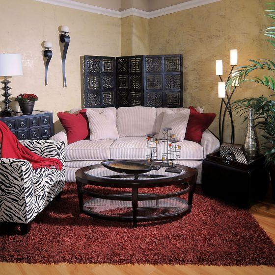 Allegra Chair by La-Z-Boy in Zebra Fabric