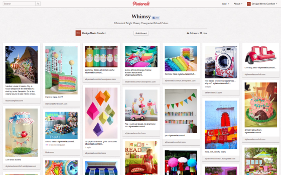 Design meets Comfort on Pinterest - Whimsy Board
