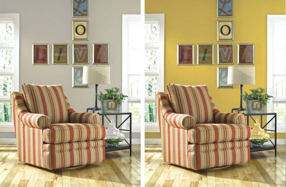 Before and After Paint - La-Z-Boy Arizona - The Chloe Swivel Glider Chair by La-Z-Boy Furniture Design meets Comfort