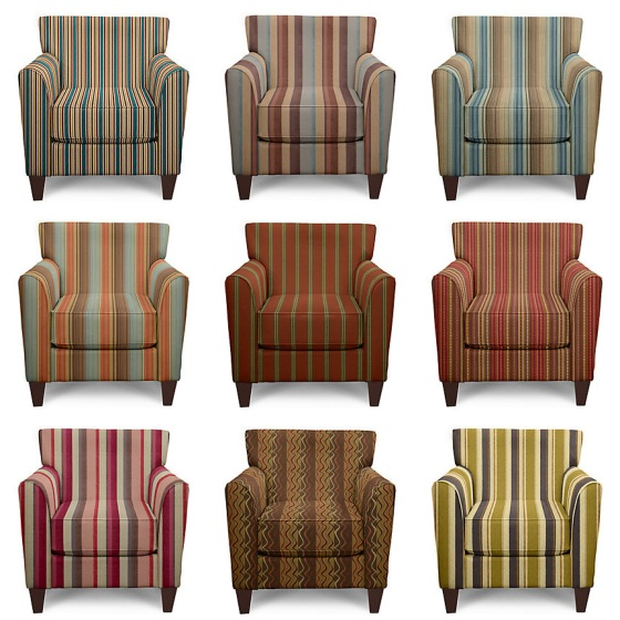 Striped Accent Chairs