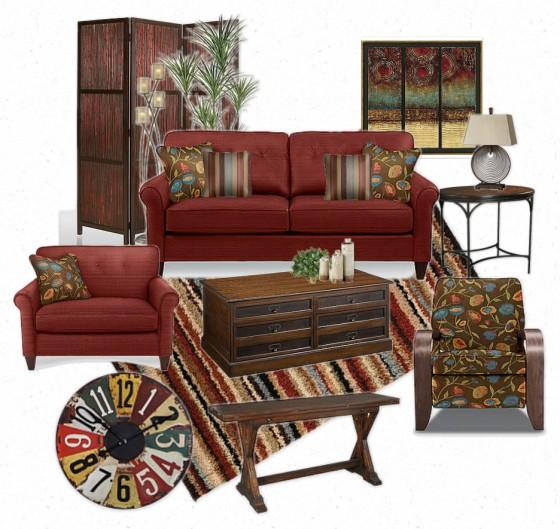 Living Room Design Board - Olioboard by Sonja Shaw