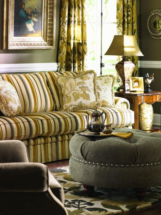 Stripe Sofa by La-Z-Boy