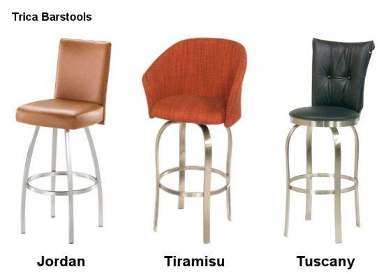 Modern Metal Trica Barstools