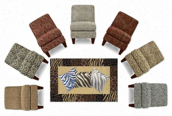 La-Z-Boy Karli Chairs in Animal Prints