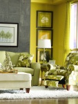 Chartreuse Wall Color Living Room