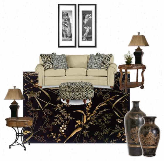 Traditional Animal Print Room by Jennifer Spencer - La-Z-Boy Arizona