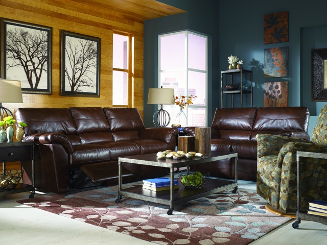 Leather and Metal Living Room