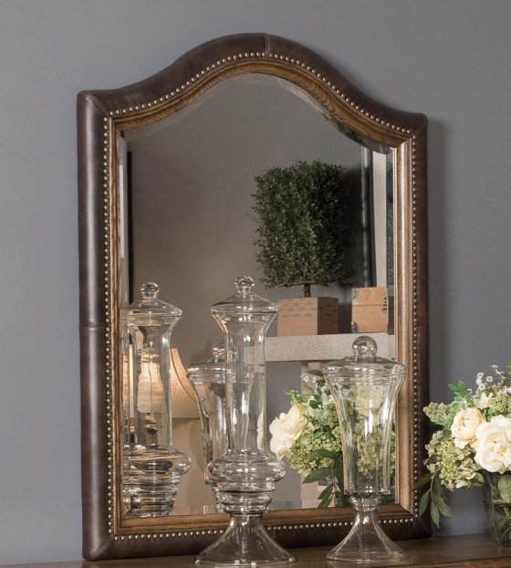 Americana Home Leather Mirror by American Drew - A La-Z-Boy Furniture Company
