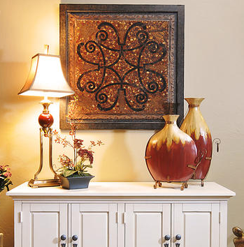 Entry Way Console with Accessories Designed by Jennifer Spencer La-Z-Boy Furniture Galleries  Design Service of Arizona