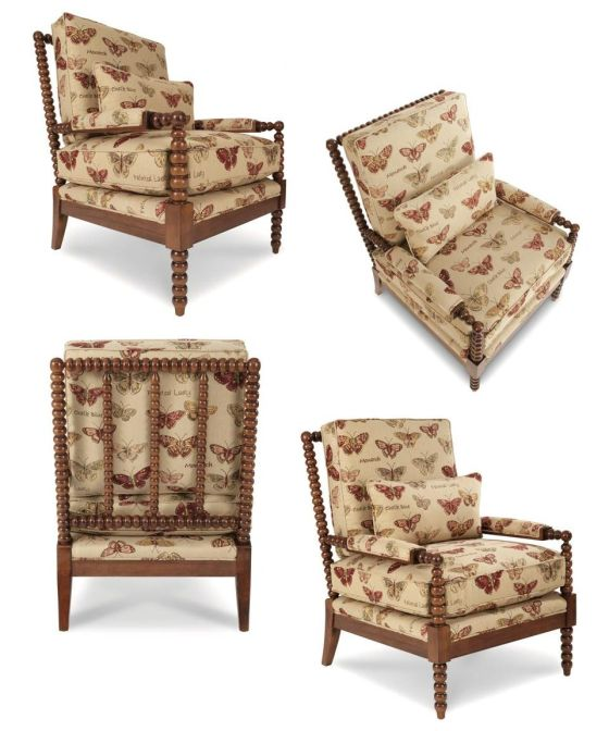 The Jenny Chair by La-Z-Boy in Fabric: Swallowtail Spice F102307