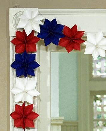 Red White and Blue Paper Stars