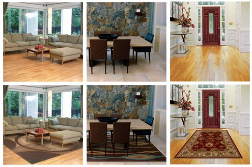 With or Without an Area Rug? With!
