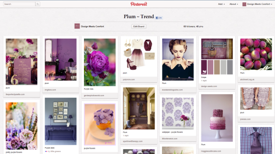 Plum ~Trend Pinterest Board - Design meets Comfort