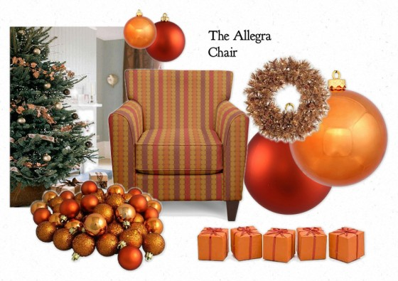 The Allegra Chair by La-Z-Boy - Shades of Copper for Christmas