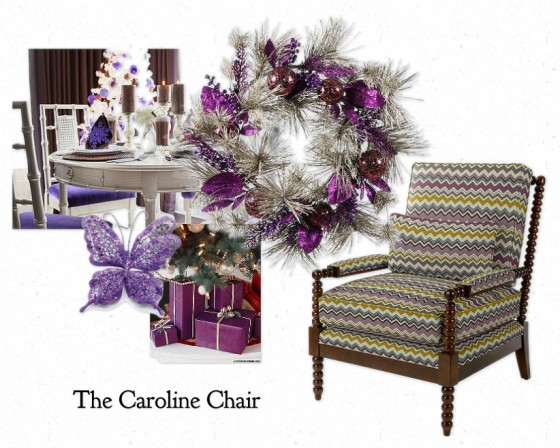 The Caroline Chair by La-Z-Boy in shades of plum for Christmas