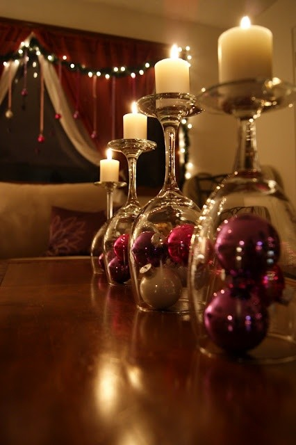 Wine Glass Candle Holder Centerpiece | Design meets Comfort