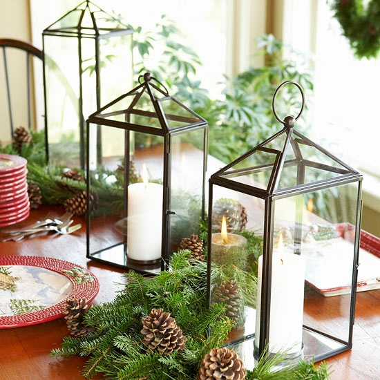 Holiday Table Top Greenery