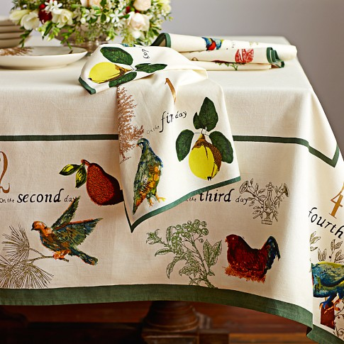 Christmas Table Cloth - Williams Sonoma