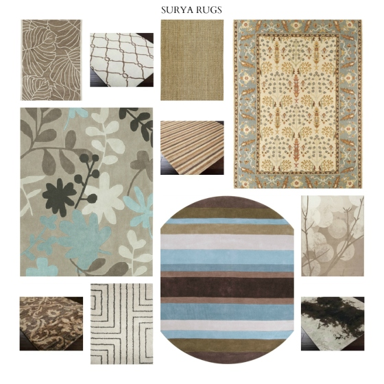 Surya Rugs in Neutrals and Blues | Design meets Comfort