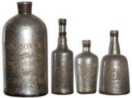 Lamaison Mercury Glass Bottles by Uttermost 19752